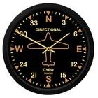 TRINTEC VINTAGE DIRECTIONAL GYRO WALL CLOCK 9062V