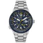 CITIZEN NAVIHAWK A-T  BLUE ANGEL S/S STRAP BJ7006-56L