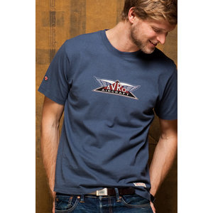 Red Canoe RED CANOE AVRO AIRCRAFT T SHIRT  WASHED BLUE M-SST-AV-01-WB