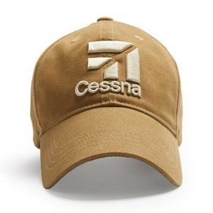 RED CANOE CESSNA U-CAP-CESS-TN 3D LOGO CAP TAN