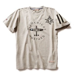 Red Canoe RED CANOE NORTH AMERICAN MUSTANG T SHIRT GREY M-SST-NAM-01-GY