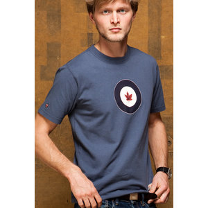 Red Canoe RED CANOE RCAF T SHIRT WASHED BLUE  M-SST-RCAF-01-WB