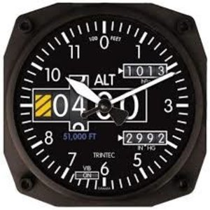 TRINTEC ALTIMETER INSTRUMENT CLOCK 2060 NV