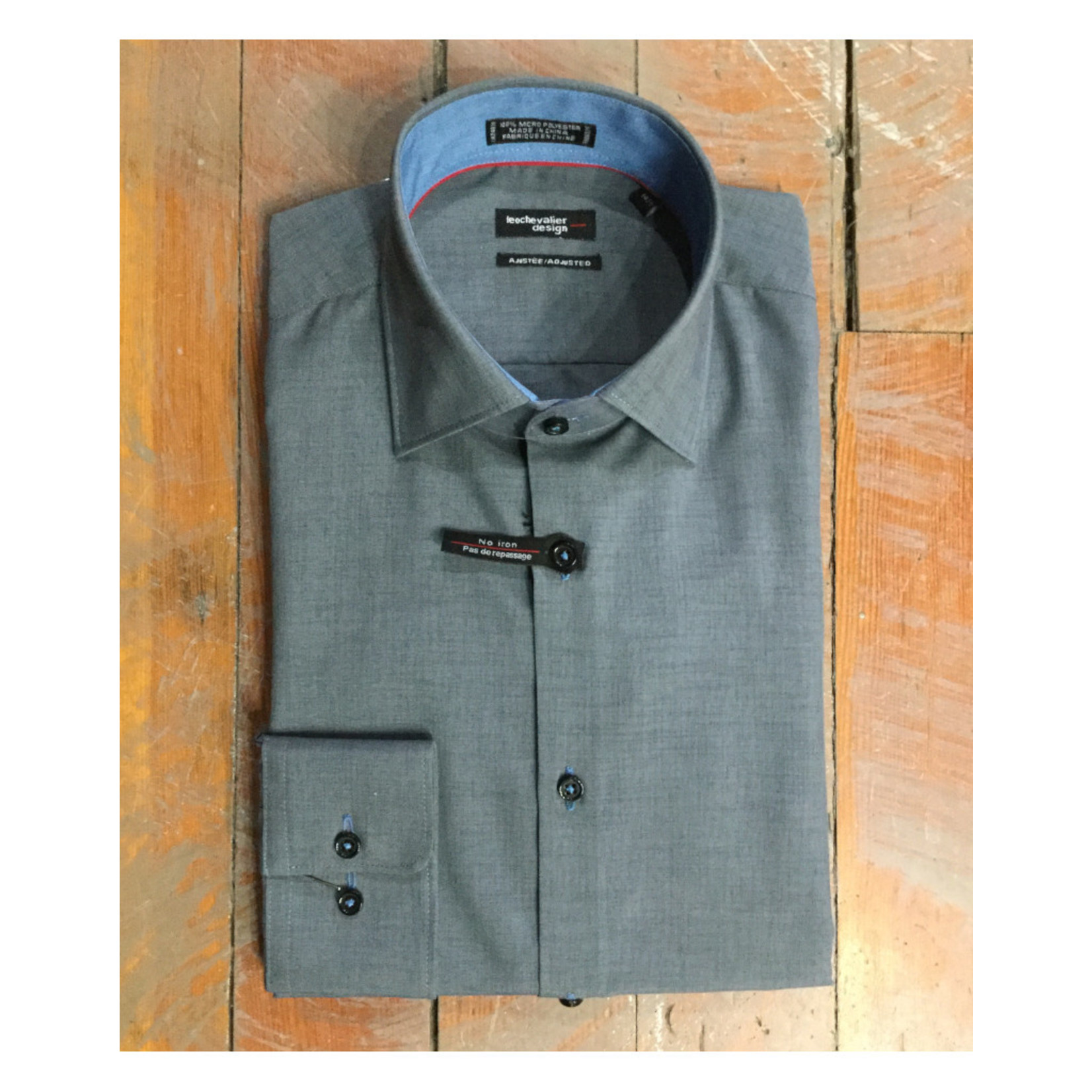 Leo Chevalier Leo Chevalier Slim Fit Micro Polyester Dress Shir