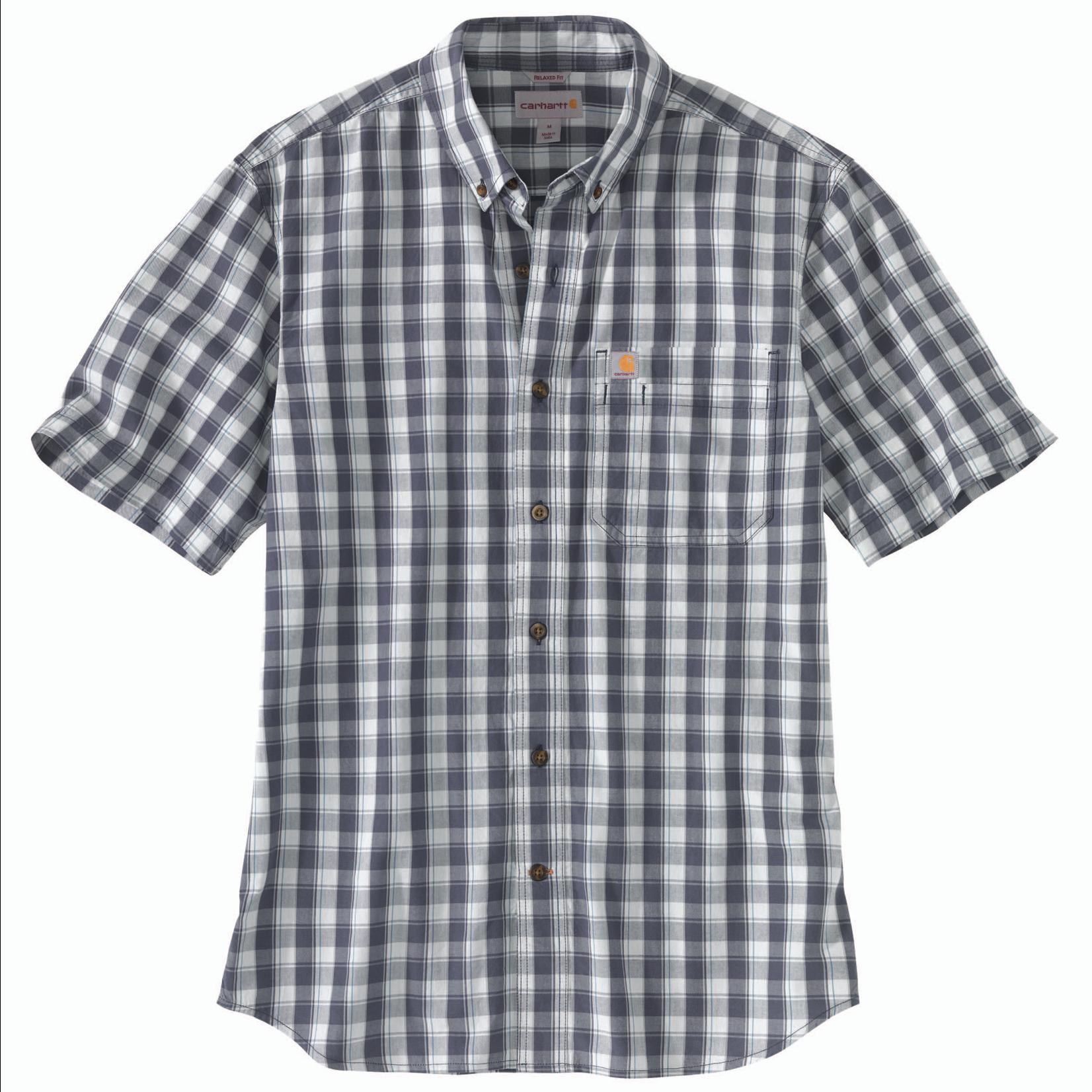 Carhartt Carhartt 104174 Short-Sleeve Button-up Plaid Shirt