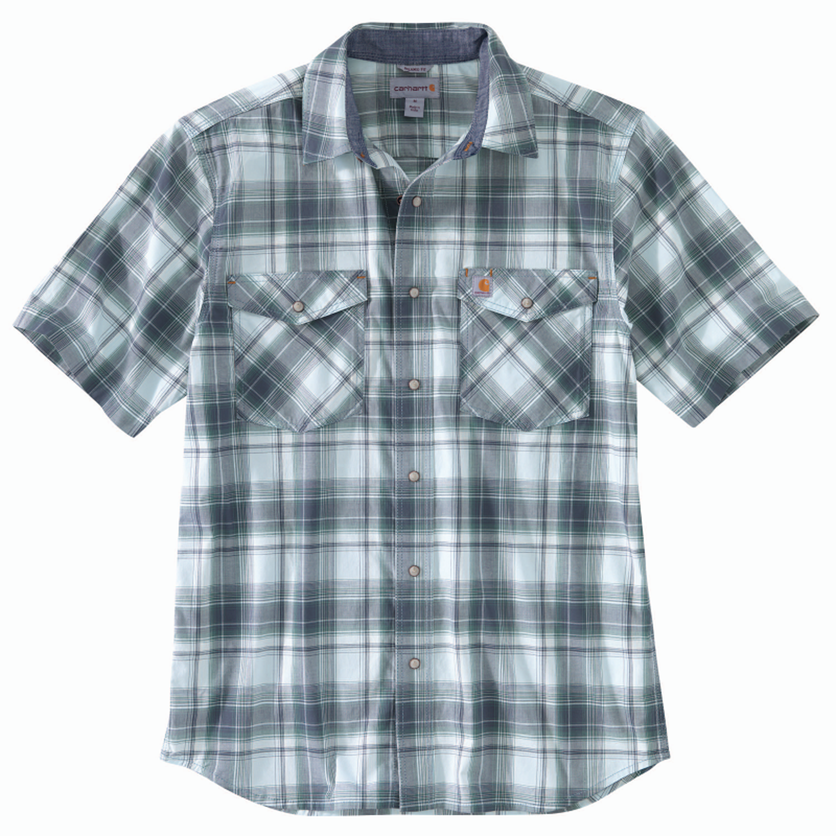 Carhartt Carhartt Short-Sleeve Snap Button-Front Plaid Shirt
