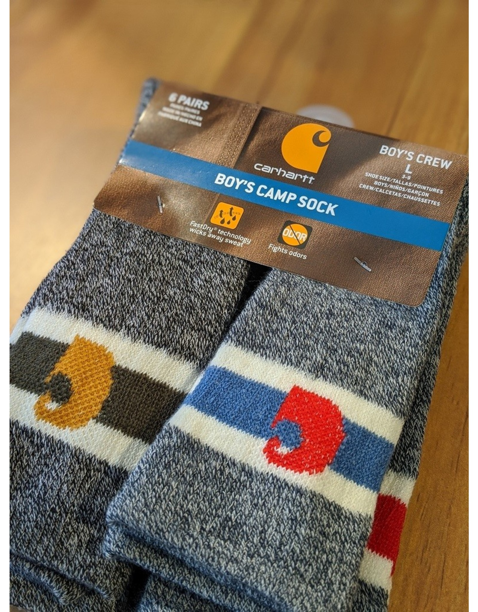 Carhartt Carhartt Boys 6pk Camp Socks