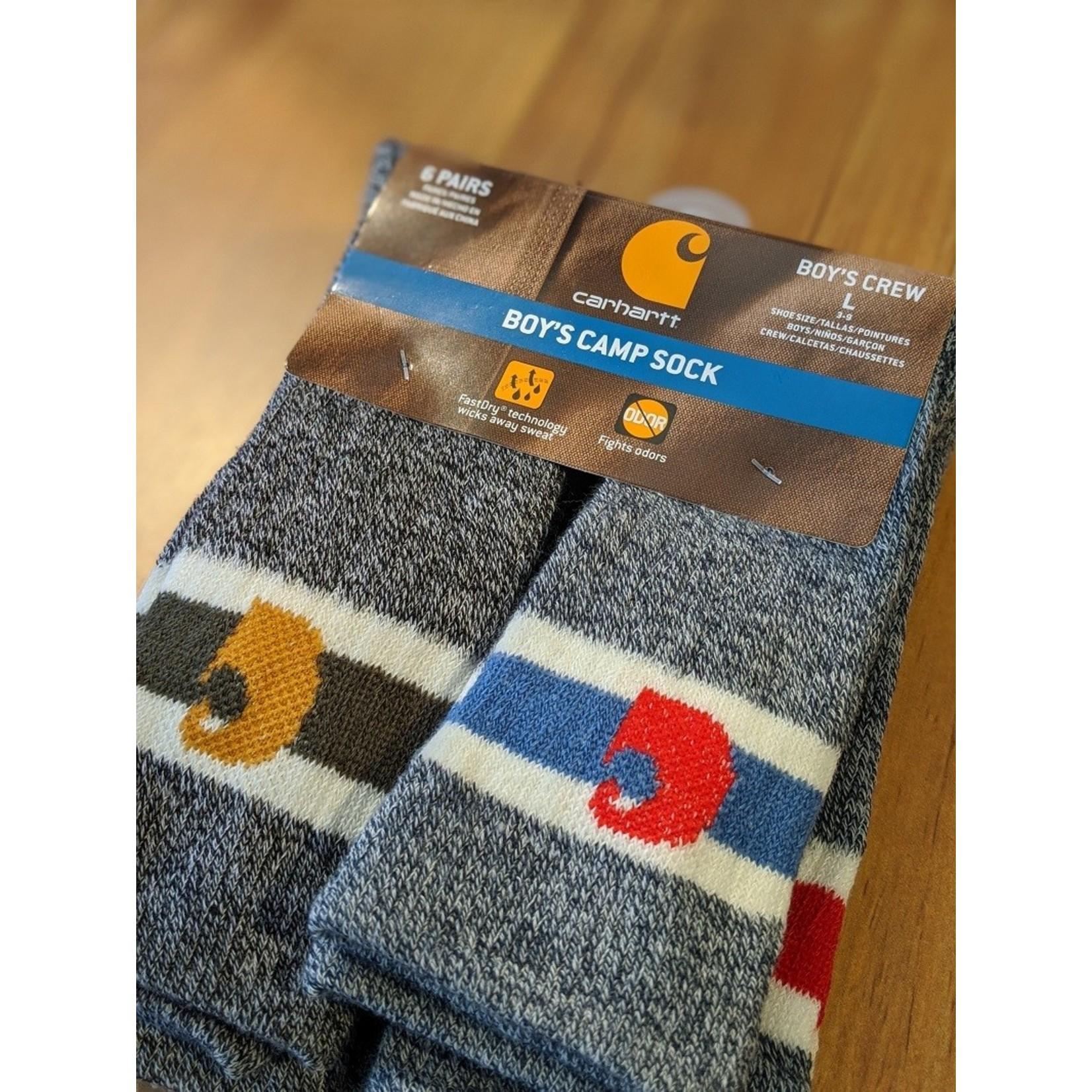 Carhartt Carhartt Boys 6pk Camp Socks