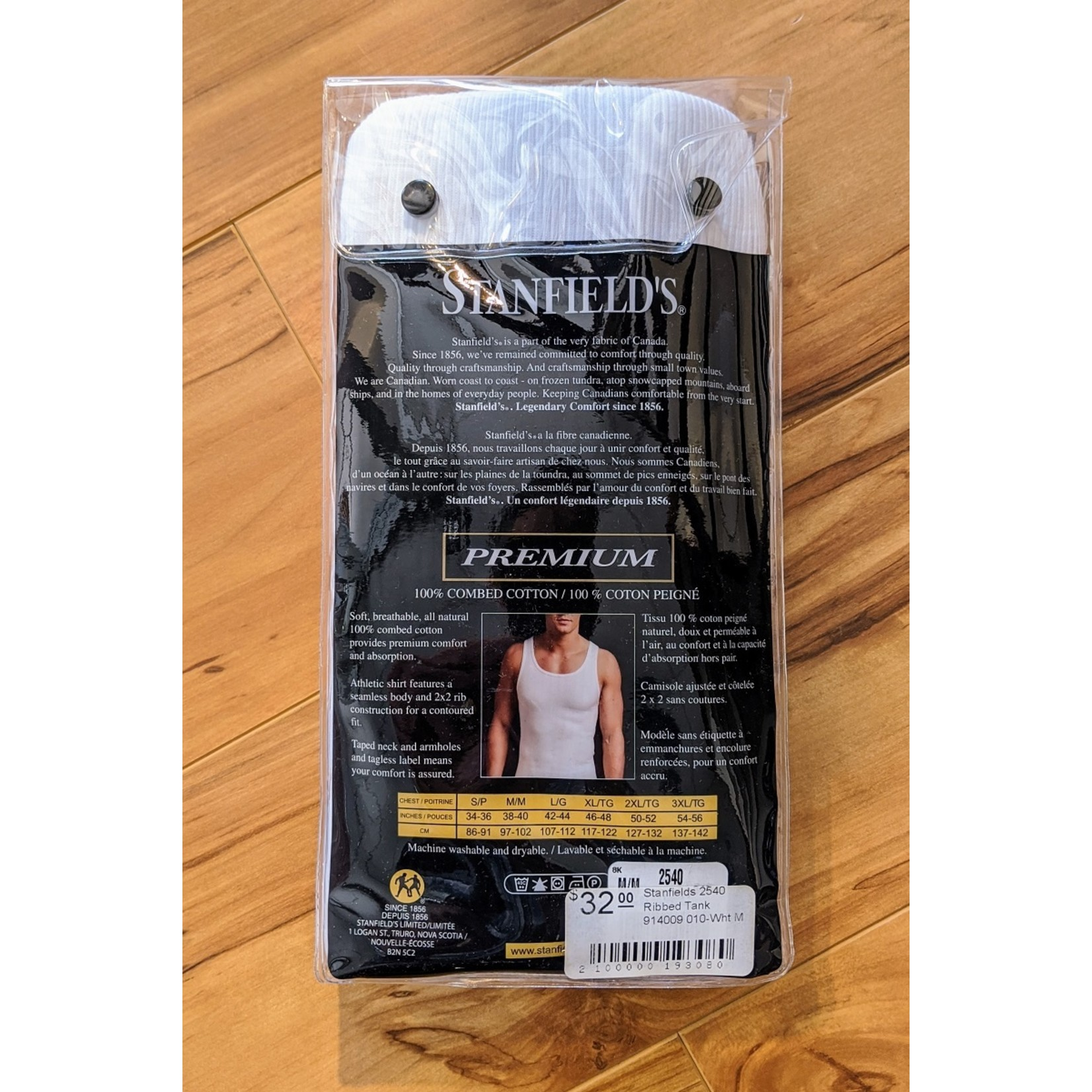 Stanfields Stanfield's 2540 Ribbed Athletic Tank  2-Pack