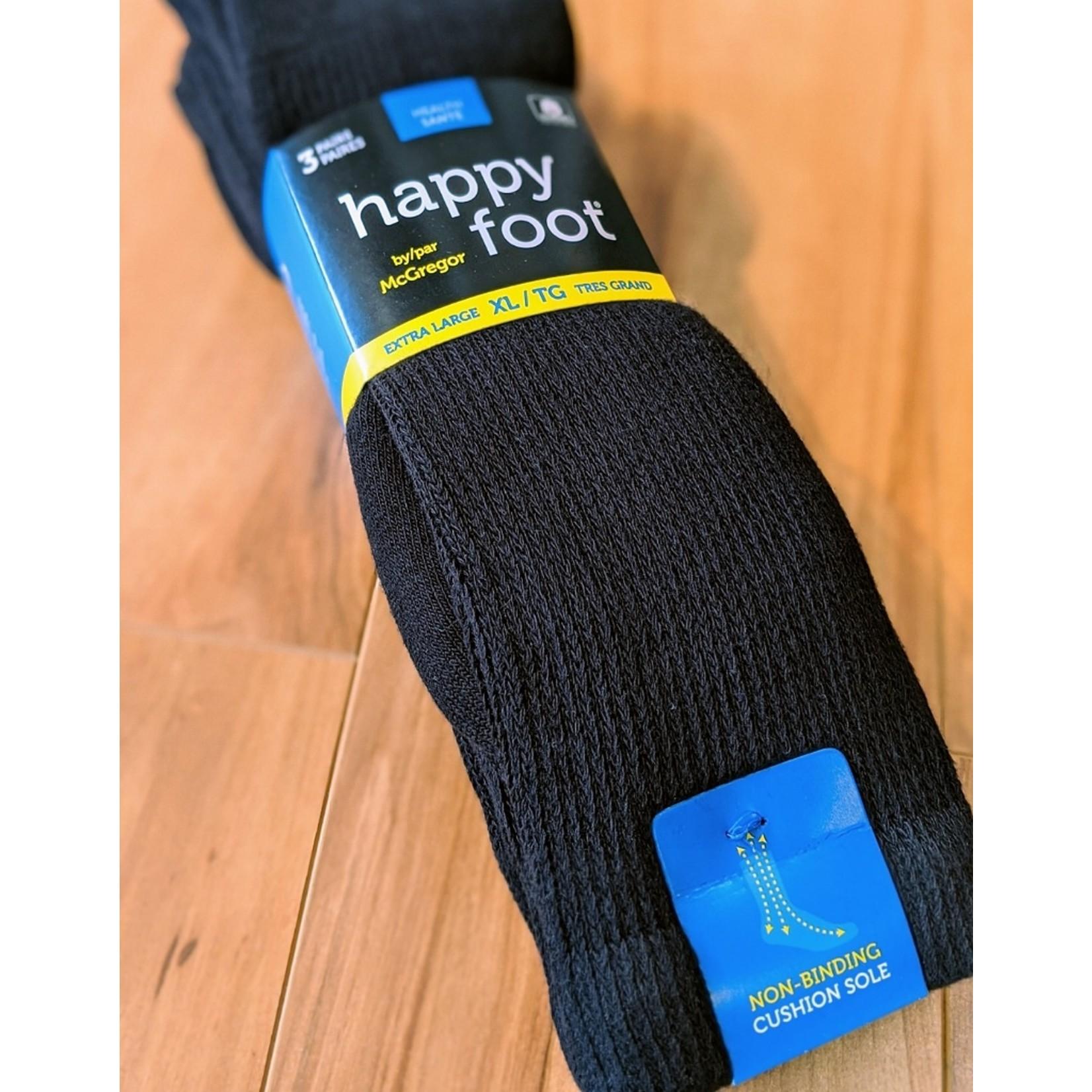 McGregor McGregor Happy Foot 3-Pk Health XL Crew Sock