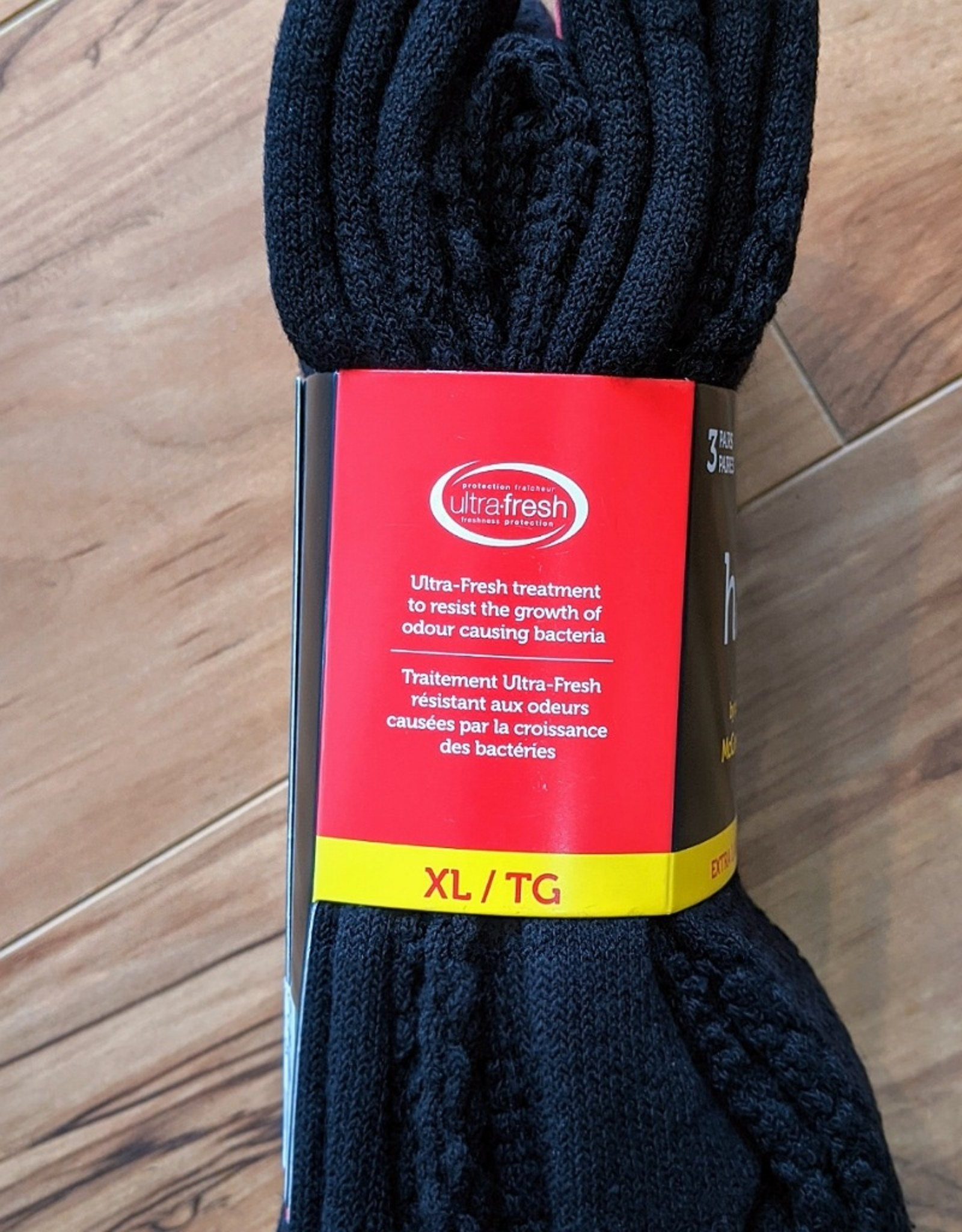 McGregor McGregor Happy Foot 3-Pack Classic XL Crew Sock