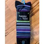 McGregor McGregor Happy Foot Stripe 3-Pk XL Crew Sock