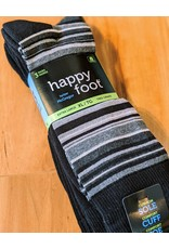 McGregor McGregor Happy Foot Stripe 3-Pk XL Crew Sock