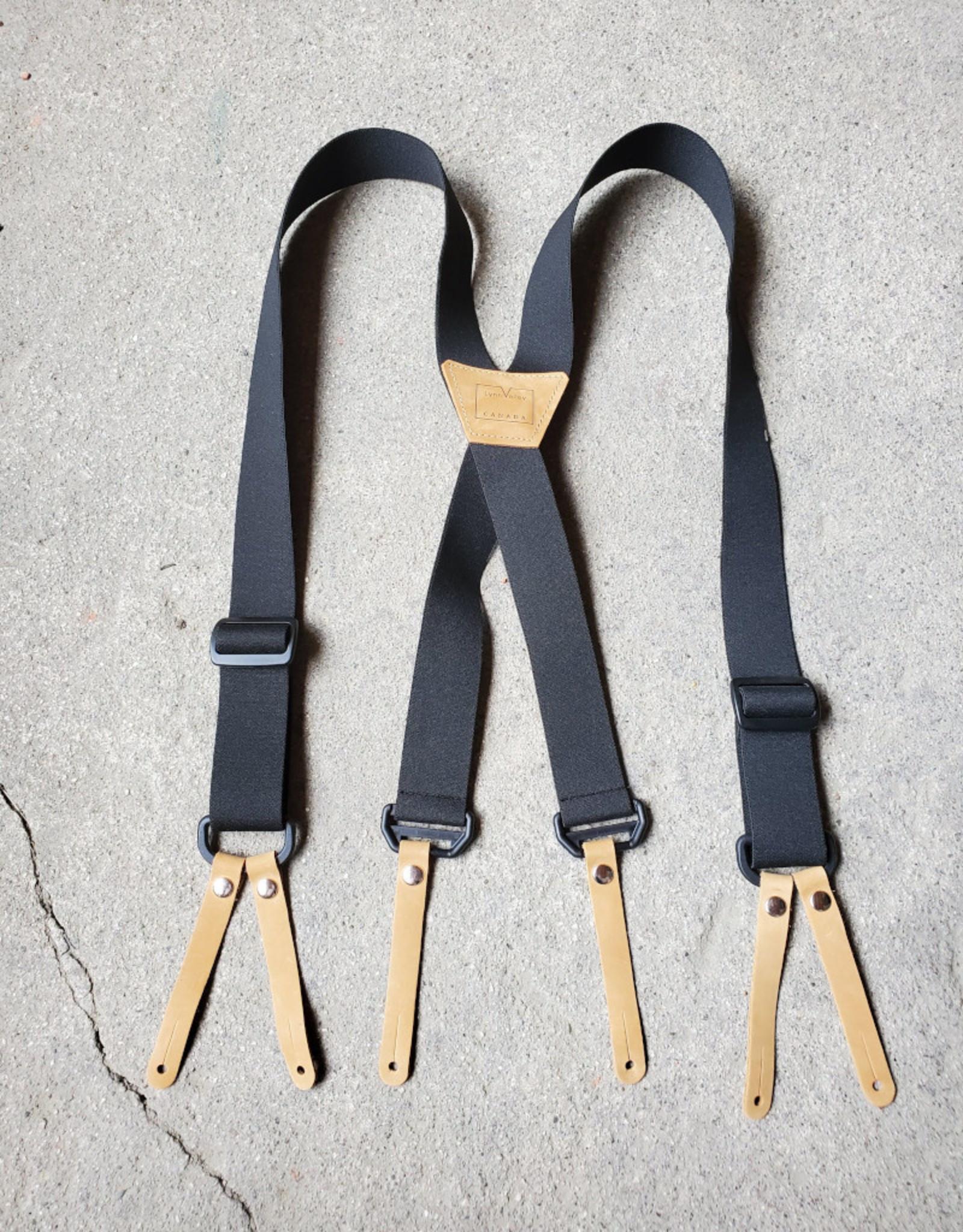 """Lynn Valley Mfg Lynn Valley 1.5"""" Button-On Suspender"""