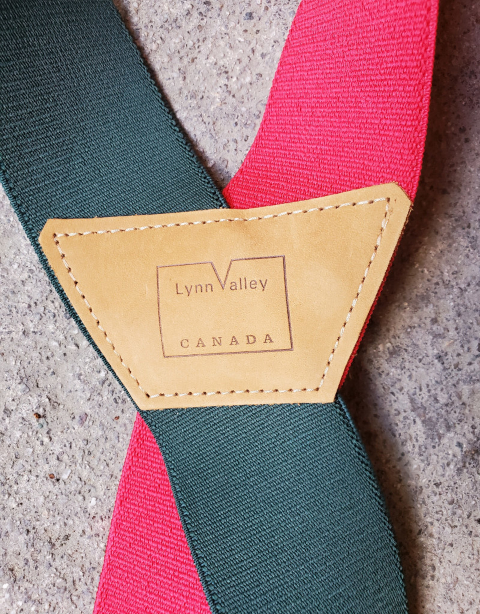"Lynn Valley Mfg Lynn Valley 2"" Heavy Duty Clip Suspender - Red & Green"