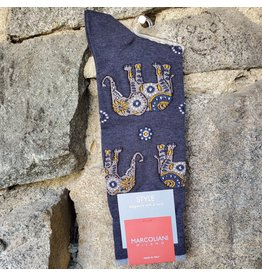 Marcoliani Marcoliani Pima Cotton Socks - Indigo Elephant