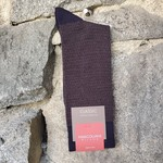 Marcoliani Marcoliani Extrafine Merino Socks - Navy/Brown Birdesye & Dots