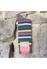 Marcoliani Marcoliani Extrafine Merino Socks - Green Stripe Mix