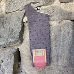 Marcoliani Marcoliani Extrafine Merino Socks - Grey/Blue Polka Dot