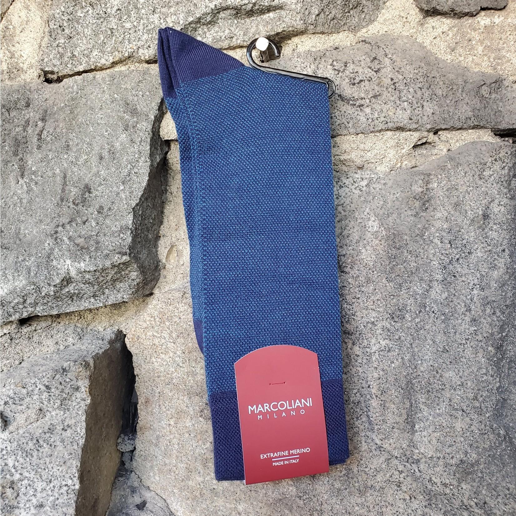 Marcoliani Marcoliani Extrafine Merino Socks - Royal Blue Birdseye