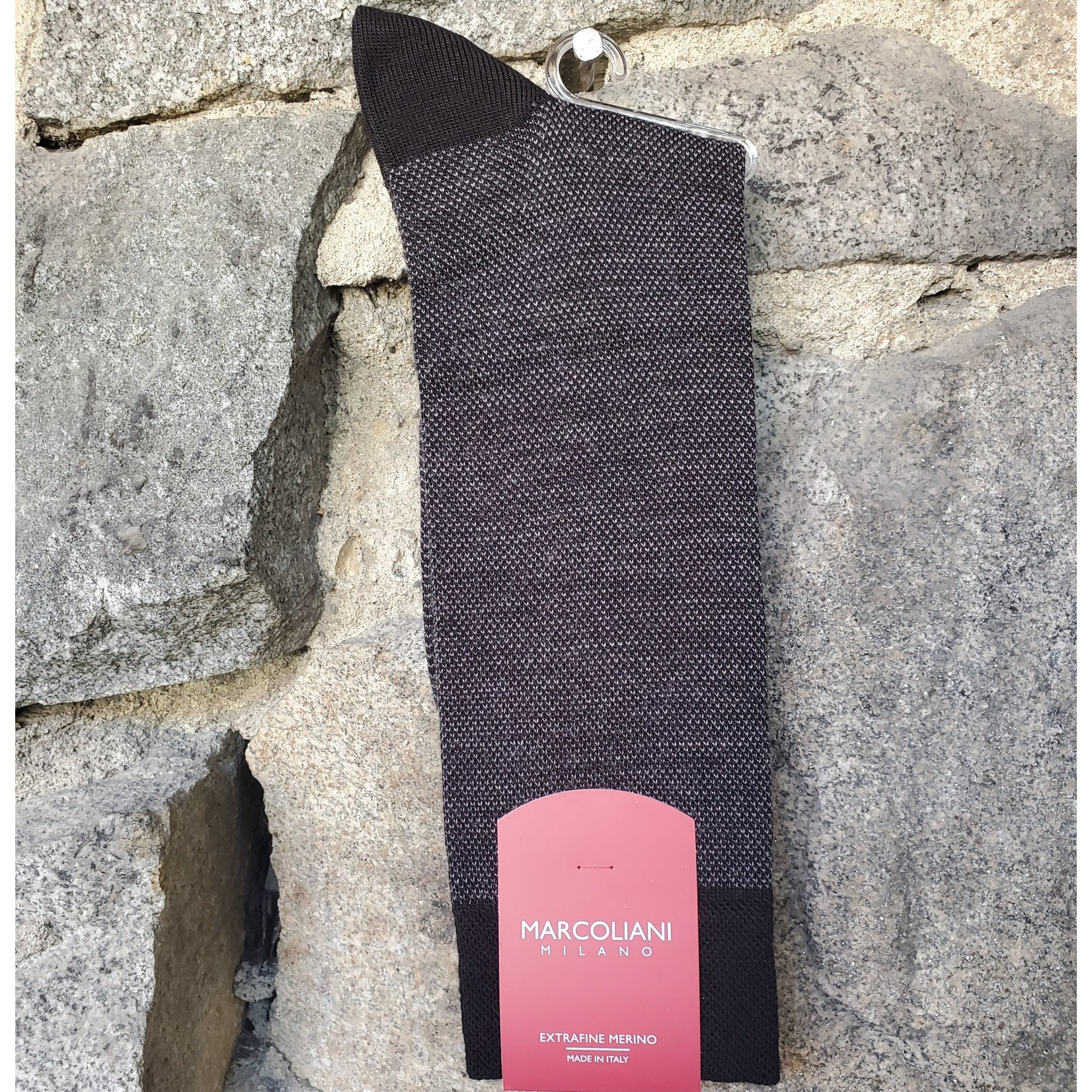 Marcoliani Marcoliani Extrafine Merino Socks - Black Birdseye