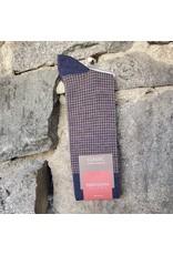 Marcoliani Marcoliani Extrafine Merino Socks - Denim/Khaki Houndstooth