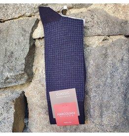 Marcoliani Marcoliani Extrafine Merino Socks - Navy Houndstooth