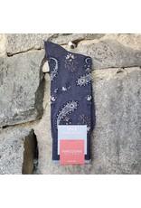 Marcoliani Marcoliani Pima Cotton Socks - Indigo Jaipur Paisley