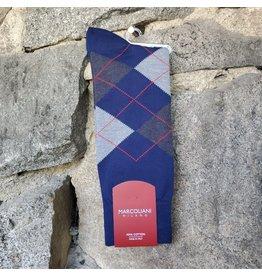 Marcoliani Marcoliani Pima Cotton Socks - Royal Blue Argyle