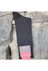 Marcoliani Marcoliani Pima Cotton Socks - Charcoal Lisle Micro Paisley
