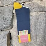 Marcoliani Marcoliani Pima Cotton Socks - Petrol Green Contrast Piqué