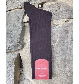 Marcoliani Marcoliani LARGE Extrafine Merino Socks - Charcoal Ribbed Dress