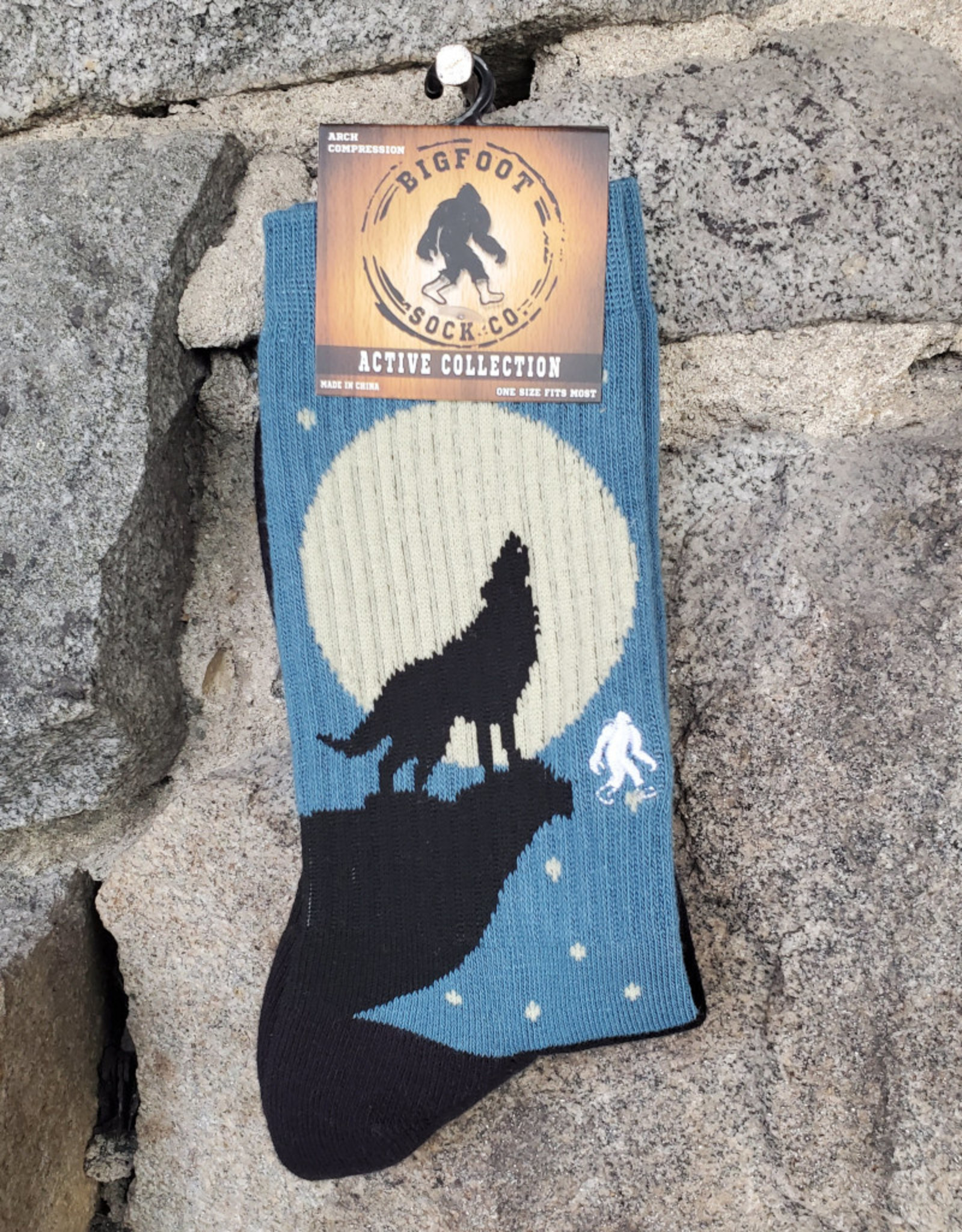 Bigfoot Bigfoot Socks - Active Wolf Howl