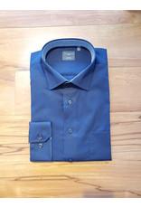Leo Chevalier Leo Chevalier Long Sleeve Classic Fit Spread Collar Shirt - Navy Print