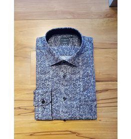 Leo Chevalier Leo Chevalier Long Sleeve Classic Fit Shirt - Tone-on-Tone Grey Paisley