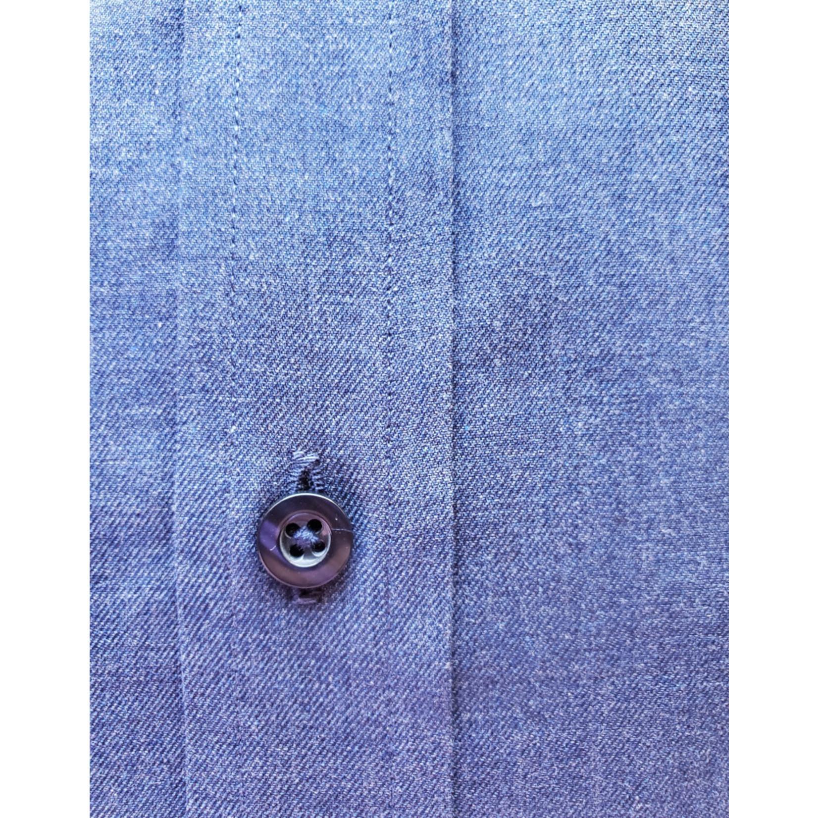 Forsyth Forsyth Long Sleeve Button Down - Heathered Navy Twill