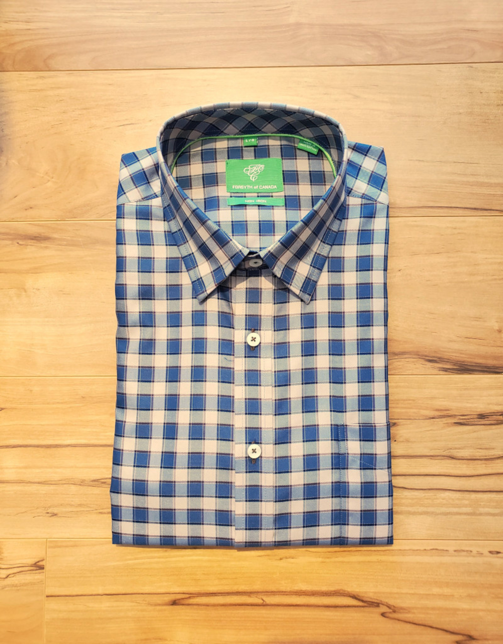 Forsyth Forsyth Long Sleeve Button Down - Denim Twill Check