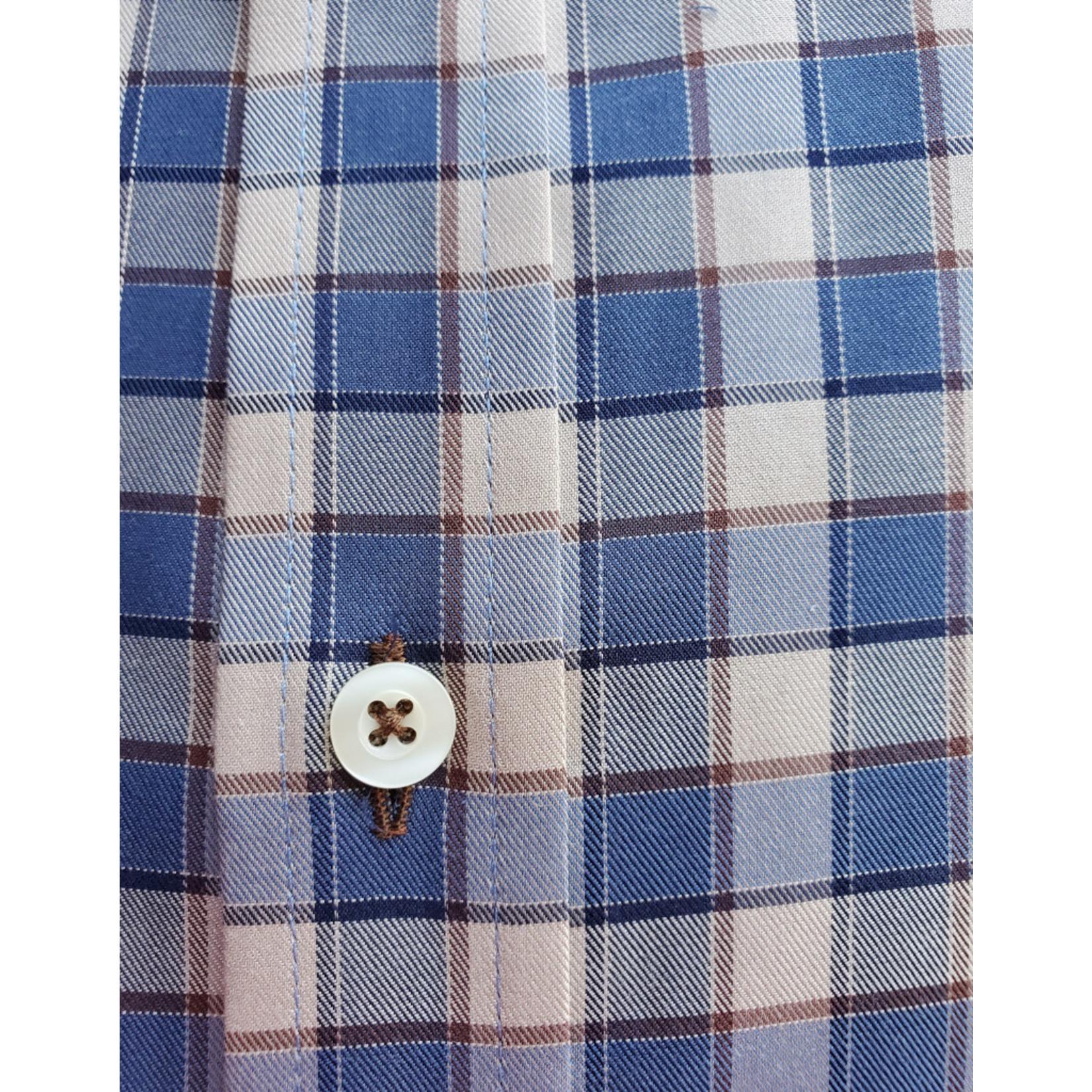 Forsyth Forsyth Long Sleeve Button Down - Denim Twill Check