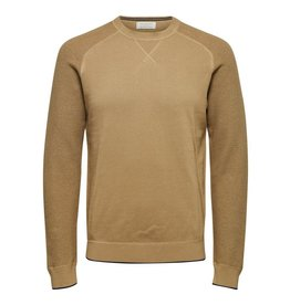 Jack & Jones Selected Homme Drake Crew Neck Sweater - Kelp