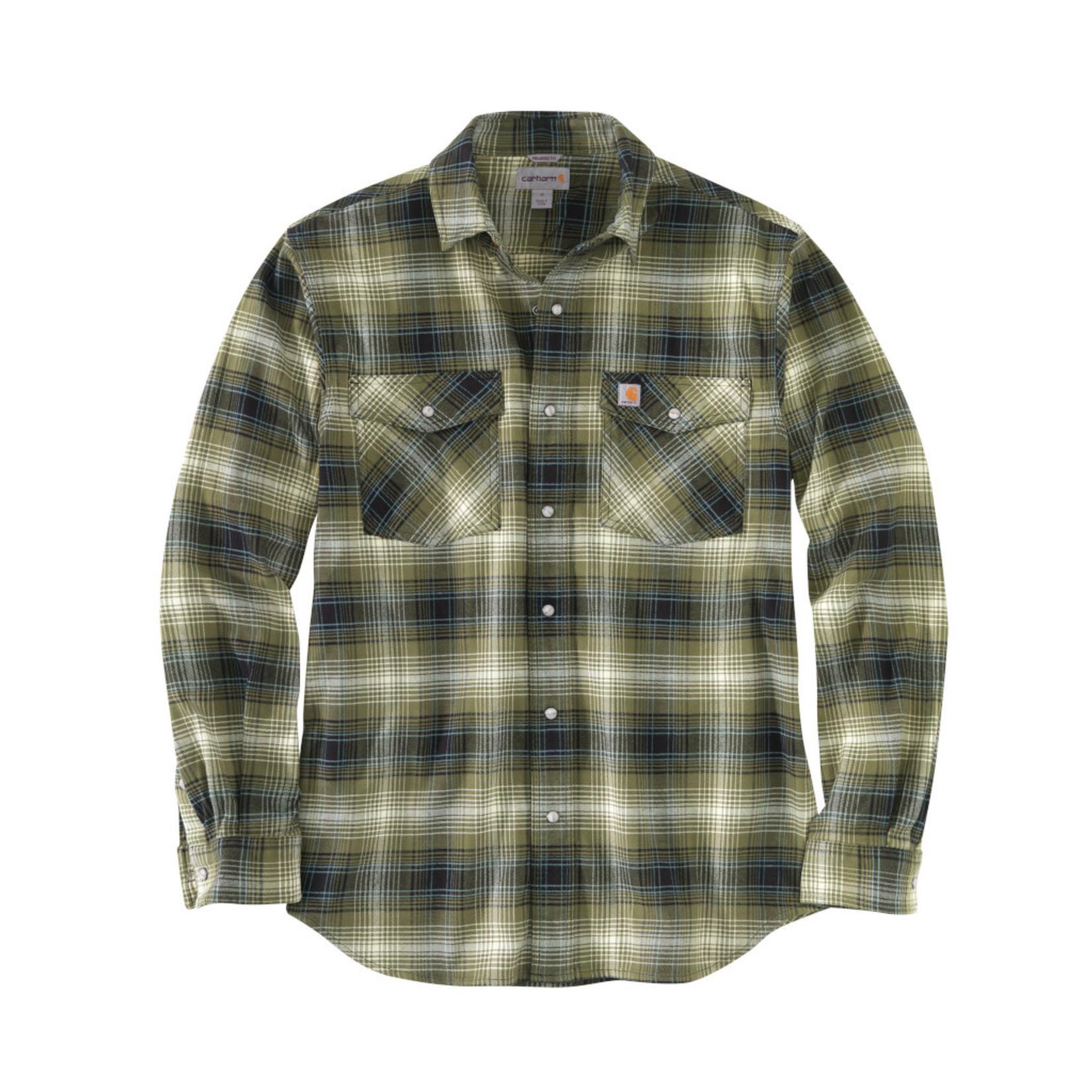 Carhartt Carhartt Rugged Flex Flannel Shirt with Snaps 104449