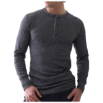 Stanfields Stanfields Merino Blend 2 Layer Henley - 2 Colors 1387