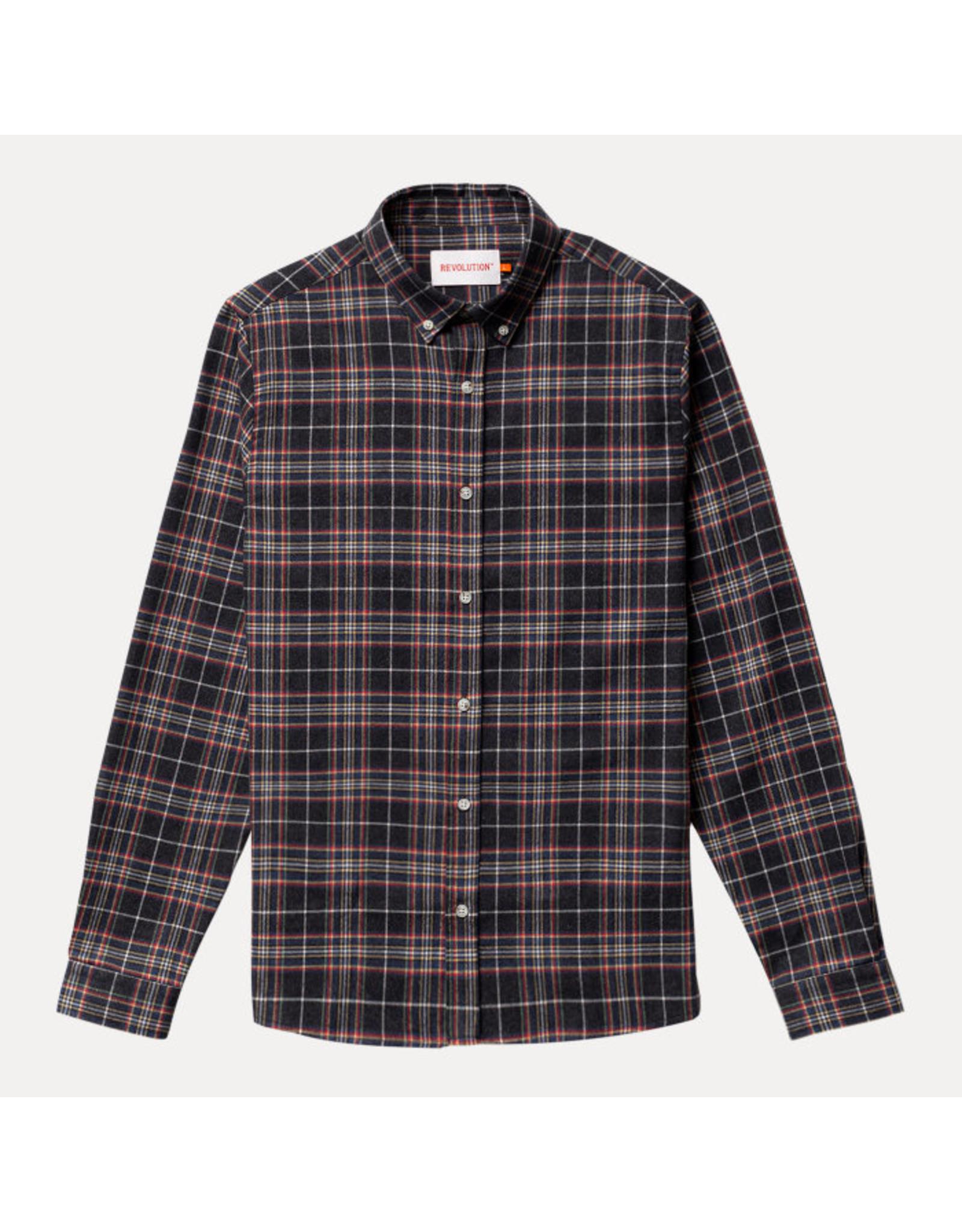 RVLT Revolution RVLT 3775 Checked Shirt - Dark Navy