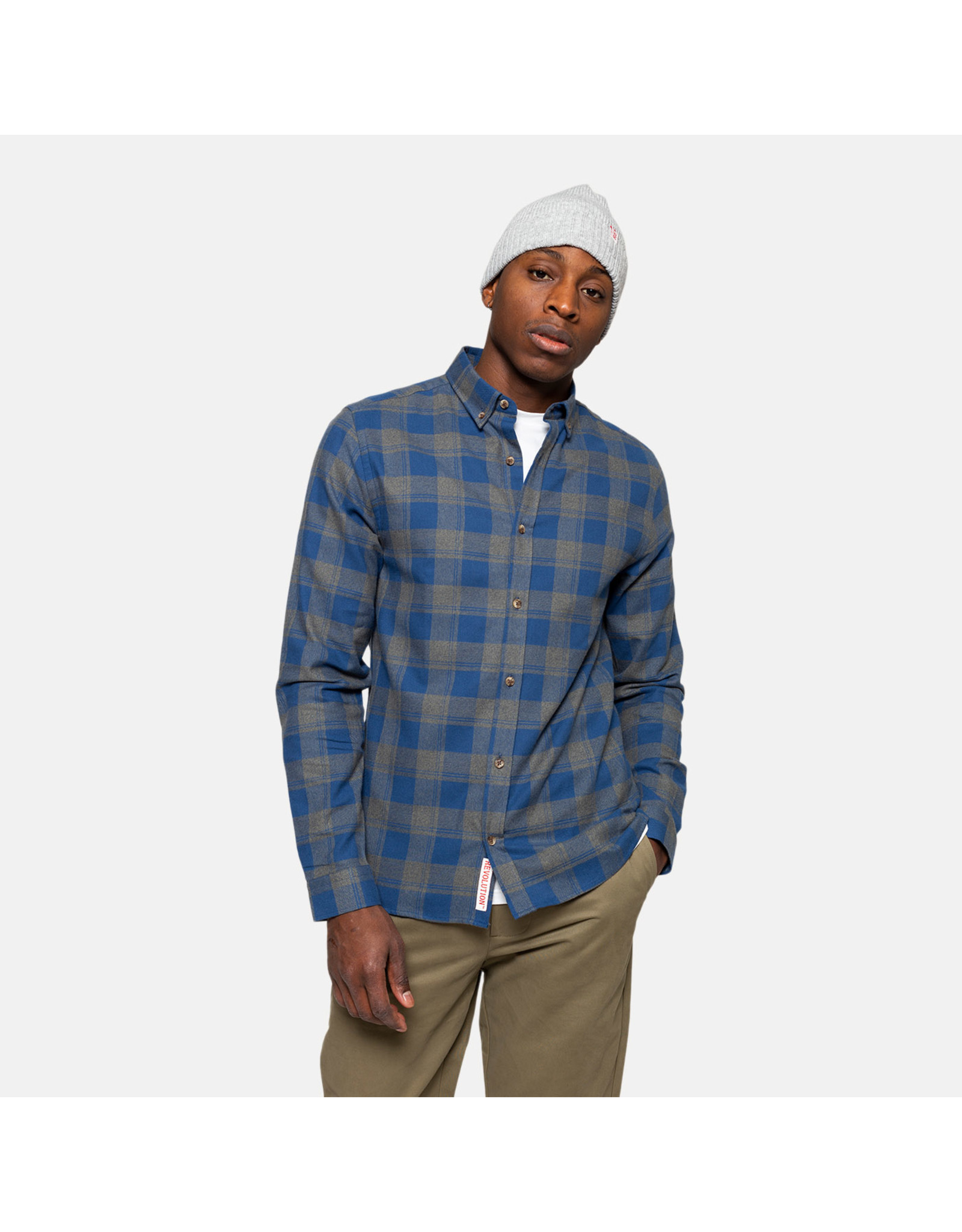 RVLT 3773 Checked Shirt - Grey