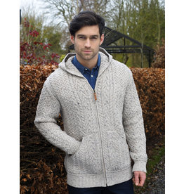 Aran Crafts Aran Crafts HD4821 Limrick Wool Hoody