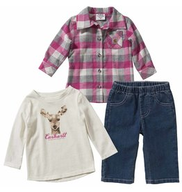 Carhartt Carhartt Kids CG9742 Toddler 3-Piece Denim Flannel Set