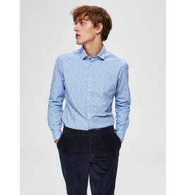 Selected Homme Selected 16068527 Slim Mark Washed Long Sleeve Shirt - Skyway