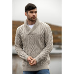 Aran Crafts Aran Crafts SH5065 Shawl Collar Pullover