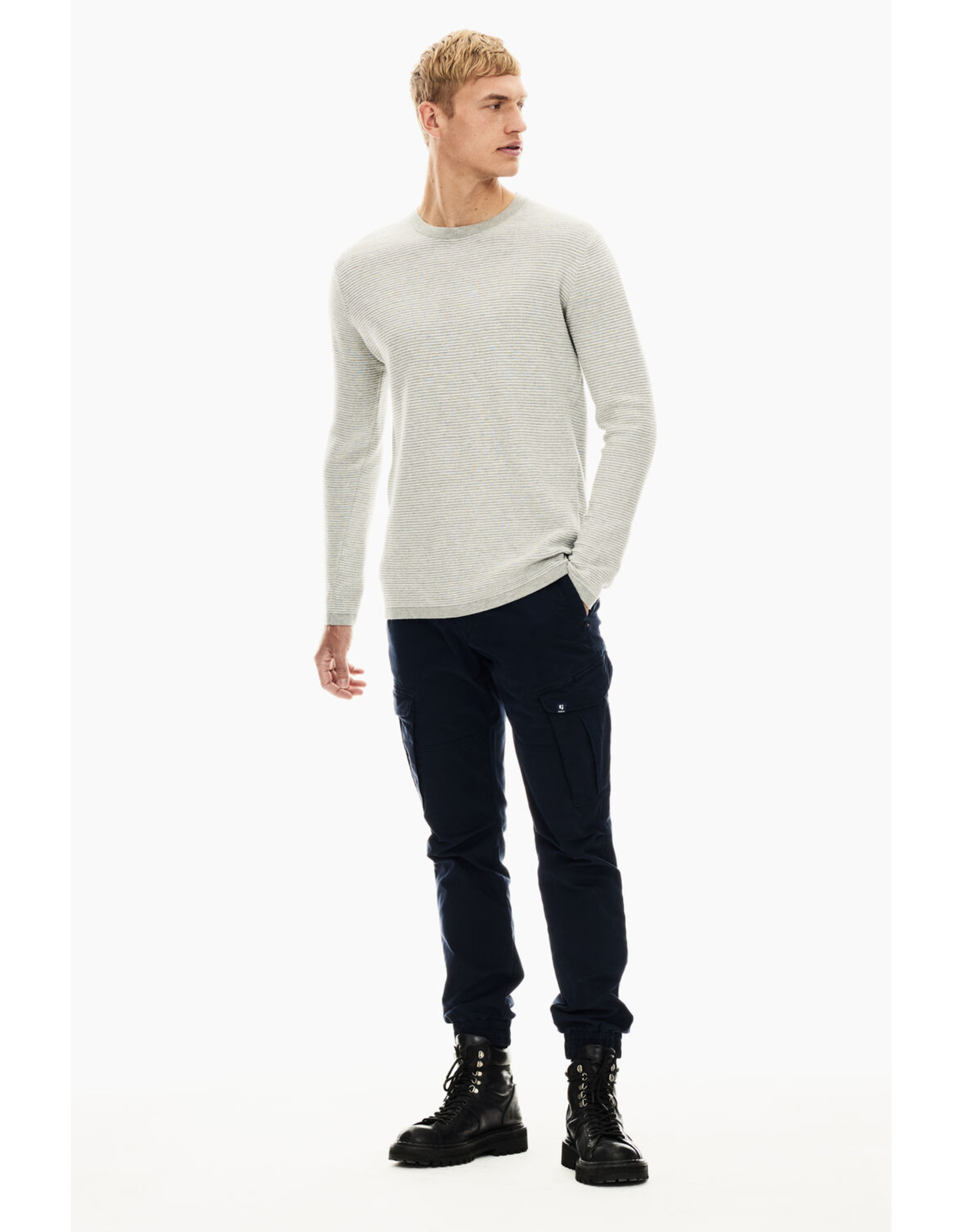 Garcia Garcia T01242 Horizontal Knit Sweater
