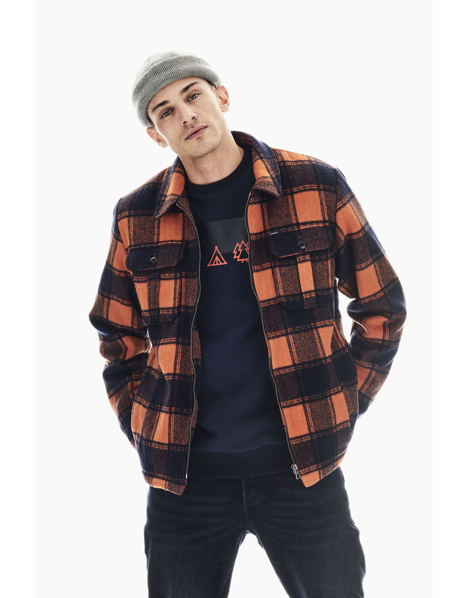 Garcia Garcia U01101 Zippered Lined Shirt Jacket