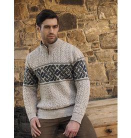 Aran Crafts Aran Crafts X4843 Newgrange 1/4 Zip Sweater